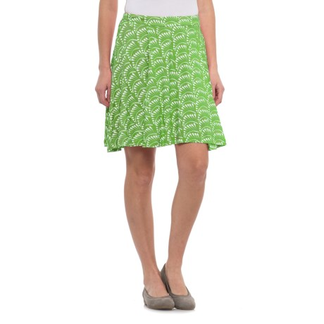Krimson Klover Palms Swing Skirt (For Women) in Greenery Palms
