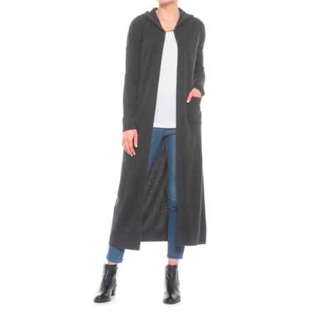 Krimson Klover Silver Queen Hooded Duster (For Women) in Charcoal - Closeouts