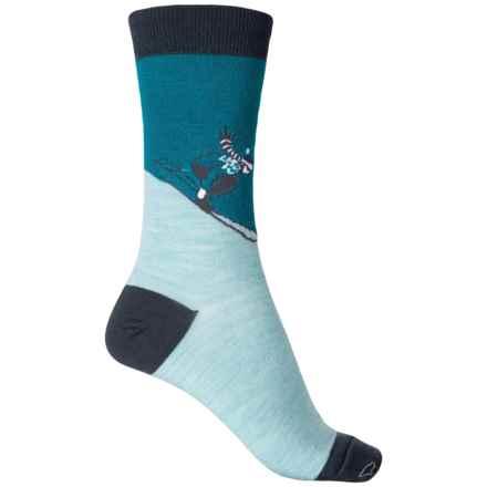 Krimson Klover Speedy Socks - Wool-Blend, Crew (For Women) in Capriock Capri - Closeouts