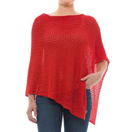 Krimson Klover Spiders Web Poncho Sweater (For Women) in Poppy - Closeouts