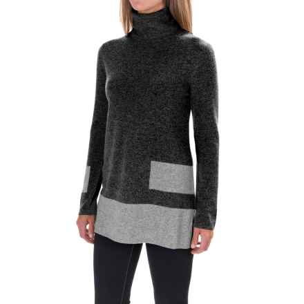 Krimson Klover Stacks Turtleneck Sweater - Merino Wool-Cashmere (For Women) in Charcoal - Closeouts