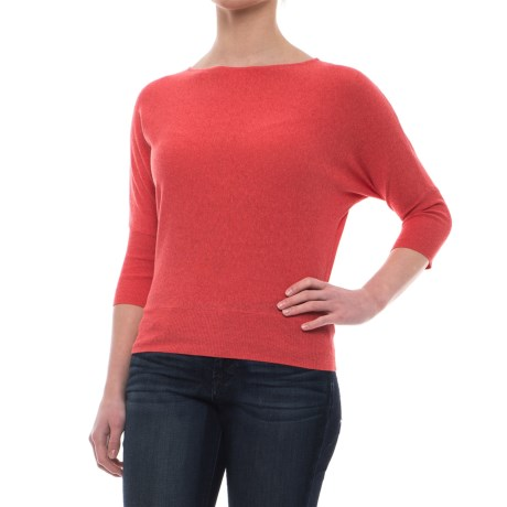 Krimson Klover Wayfarer Dolman Shirt - 3/4 Sleeve (For Women) in Coral