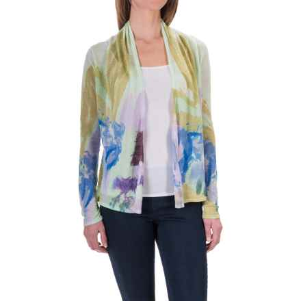 Krimson Klover Whisperer Cardigan Sweater - Linen Blend (For Women) in Mint/Lavendar/Cornflower - Closeouts