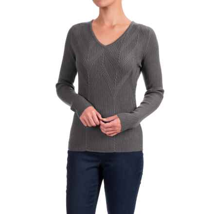 Krimson Klover Wild Hearts Sweater - Wool, V-Neck (For Women) in Grey - Closeouts