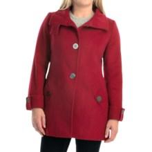 Kristen Blake Australian Wool Coat - Funnel Neck (For Women) in Red - Overstock