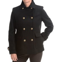Kristen Blake Double-Breasted Wool Coat (For Women) in Black - Closeouts