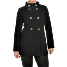 Kristen Blake Double-Breasted Wool Peacoat (For Women) in Black - Closeouts