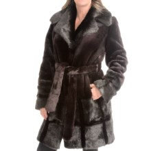 Kristen Blake Faux-Fur Coat - Oversized Collar (For Women) in Deep Pruple - Closeouts