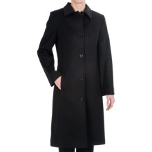 Kristen Blake Lambswool Coat -Single-Breasted, Full Length (For Women) in Black - Closeouts