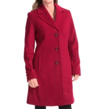 Kristen Blake Lambswool Notch-Collar Coat (For Women) in Red - Closeouts
