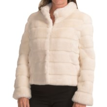 Kristen Blake Quilted Faux-Fur Jacket (For Women) in Ivory - Closeouts