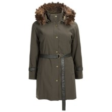 Kristen Blake Urban Anorak - Insulated, Faux-Fur Hood Trim (For Plus Size Women) in Olive - Closeouts