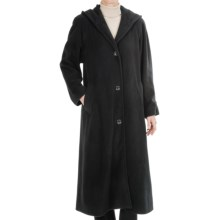 Kristen Blake Washable Wool Hooded Coat - Full Length (For Women) in Raven Solid - Closeouts