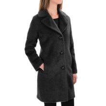 Kristen Blake Wool-Alpaca Blend Notch-Collar Coat (For Women) in Black - Overstock