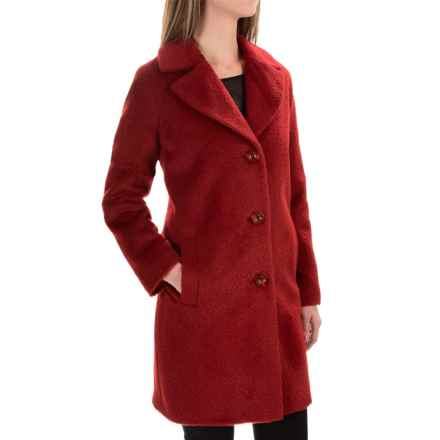 Kristen Blake Wool-Alpaca Blend Notch-Collar Coat (For Women) in Brick - Overstock