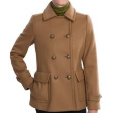 Kristen Blake Wool Pea Coat - Pleated Back (For Women) in Camel - Closeouts