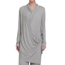 Kristy + Chloe Side-Tie Wrap Knit Shirt - Long Sleeve (For Women) in Mineral - Closeouts