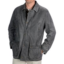 Kroon Antique Washed Leather Jacket (For Men) in Black - Closeouts