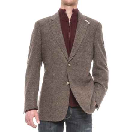 Kroon Bono Two-Button Patch Pocket Sport Coat (For Men) in Brown Donegal - Closeouts