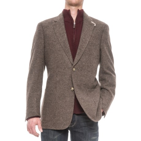 Kroon Bono Two-Button Patch Pocket Sport Coat (For Men) in Brown Donegal