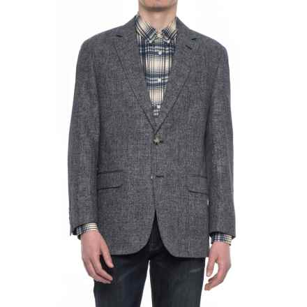 Kroon Brock Fancy Sport Coat - Cotton-Linen (For Men) in Black - Closeouts