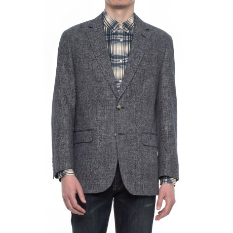 Kroon Brock Fancy Sport Coat - Cotton-Linen (For Men) in Black