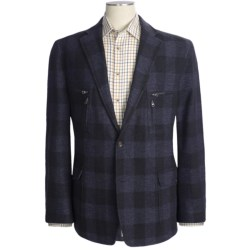 Kroon Buffalo Plaid Sport Coat - Wool Blend (For Men) in Navy