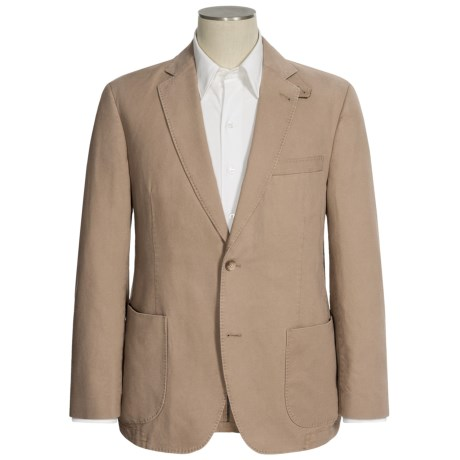 Kroon Cotton Basket-Weave Sport Coat - Detachable Throat Latch (For Men) in Stone