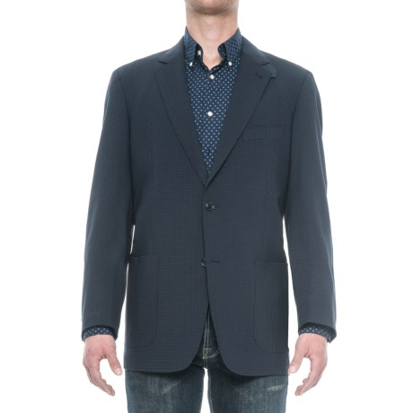 Kroon Edge 2 Sport Coat - Wool Blend, Elbow Patches (For Men) in Blue Check