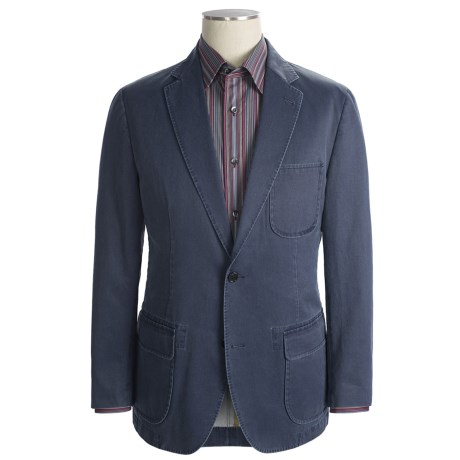 Kroon Garment-Washed Nailhead Sport Coat (For Men) in Navy