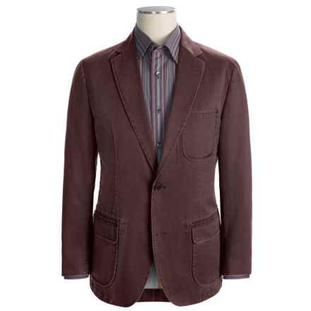 Kroon Garment-Washed Nailhead Sport Coat (For Men) in Red - Closeouts