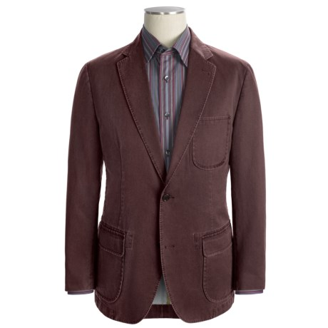 Kroon Garment-Washed Nailhead Sport Coat (For Men) in Red