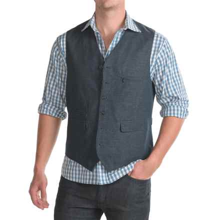 Kroon Hootie Vest - Linen-Cotton (For Men) in Navy - Closeouts