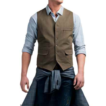 Kroon Hootie Vest - Stretch Cotton (For Men) in Brown/Antique - Closeouts