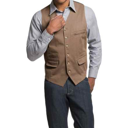 Kroon Hootie Vest - Stretch Cotton (For Men) in Tan - Closeouts