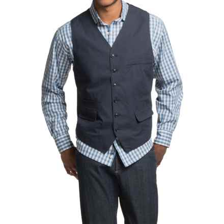 Kroon Hootie Vest - Washed Cotton (For Men) in Navy - Closeouts