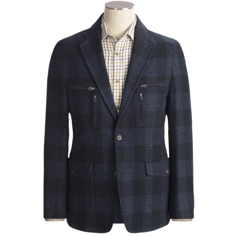 Kroon Nash Hidden Check Sport Coat (For Men) in Navy