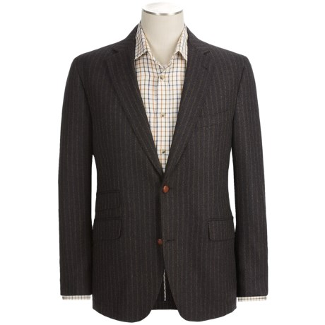 Kroon Pippin Sport Coat - Lambswool-Cashmere, Striped (For Men) in Dark  Brown