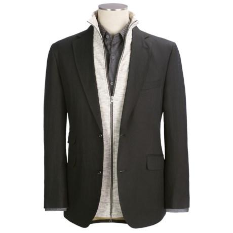 Kroon Slub Sport Coat (For Men) in Black