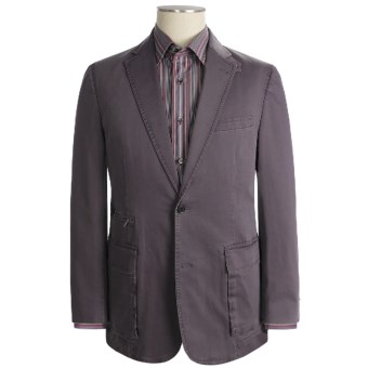 Kroon Stretch Cotton Sport Coat (For Men) in Eggplant