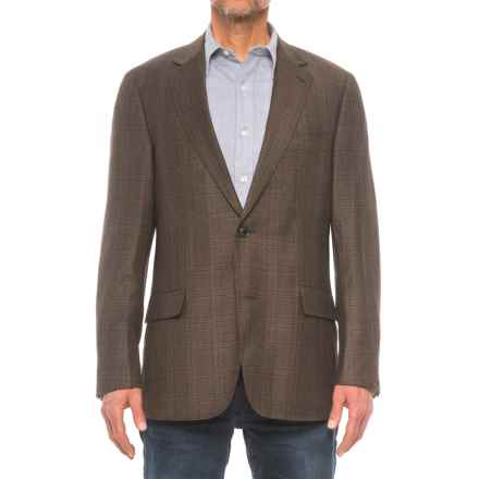 Kroon Taylor Sport Coat with Lower Flap Pockets - Wool Blend (For Men) in Brown Plaid - Closeouts