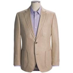 Kroon Textured Stripe Sport Coat - Silk (For Men) in Tan