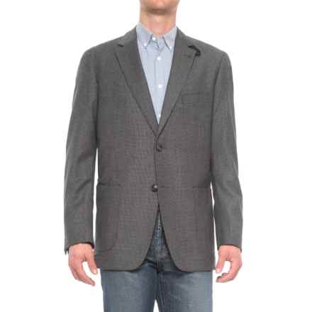 Kroon The Edge Wool Sport Coat with Elbow Patches (For Men) in Charcoal/Black Houndstooth - Closeouts