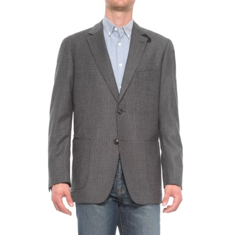 Kroon The Edge Wool Sport Coat with Elbow Patches (For Men) in Charcoal/Black Houndstooth