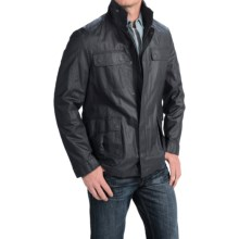 Kroon Williams Coated Jacket - Ramie-Cotton (For Men) in Navy - Closeouts