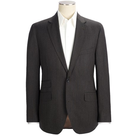 Kroon Wool Stripe Sport Coat (For Men) in Navy/Brown