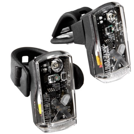 Kryptonite Avenue F-50/R-14 Dual Bike Light Set - 50/14 Lumens, Rechargeable in See Photo