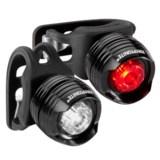 Kryptonite Comet F100 and R100 Alum LED Bike Lights - 30 Lumens, 2-Pack