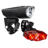 Kryptonite Comet Front and Rear High-Powered LED Bike Lights - 10 Lumens, 2-Pack