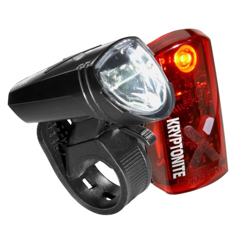 Kryptonite Street F-135 and Avenue R-14 Bike Light Set - 135/14 Lumens, Rechargeable in See Photo